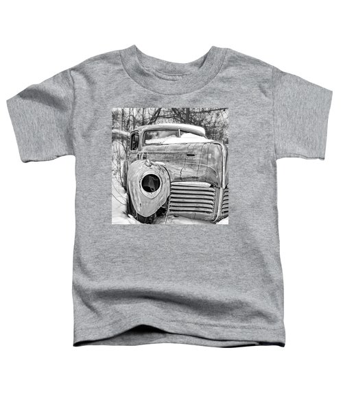 Old Hudson In The Snow Black And White Toddler T-Shirt