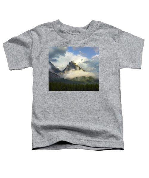 Opal Range In Fog Kananaskis Country Toddler T-Shirt