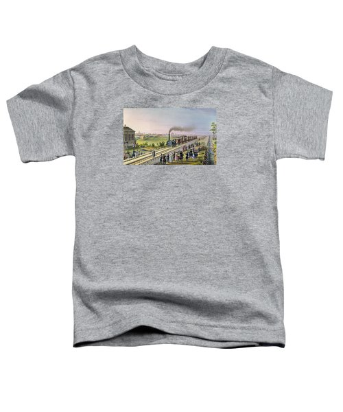 Opening Of The First Railway Line From Tsarskoe Selo To Pavlovsk In 1837 Toddler T-Shirt
