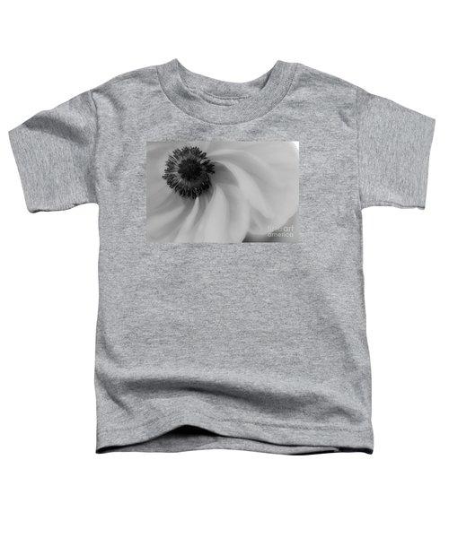 Orange Flower In Black And White Toddler T-Shirt