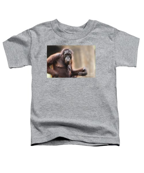 Orangutan Toddler T-Shirt by Richard Garvey-Williams