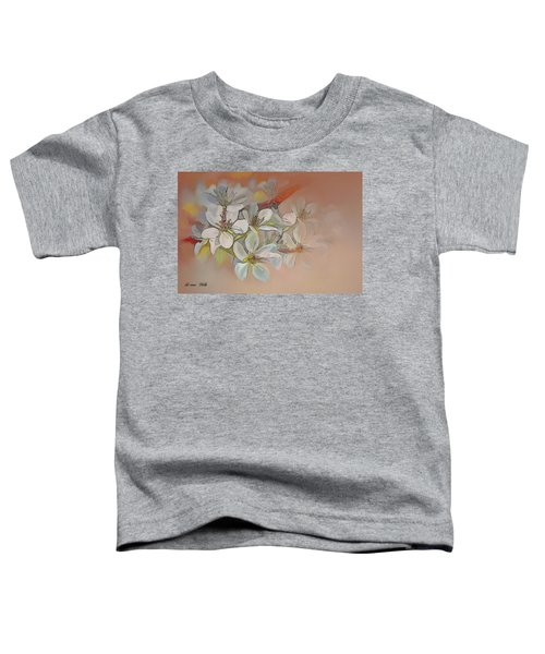 Oriental Pear Blossom Branch Toddler T-Shirt