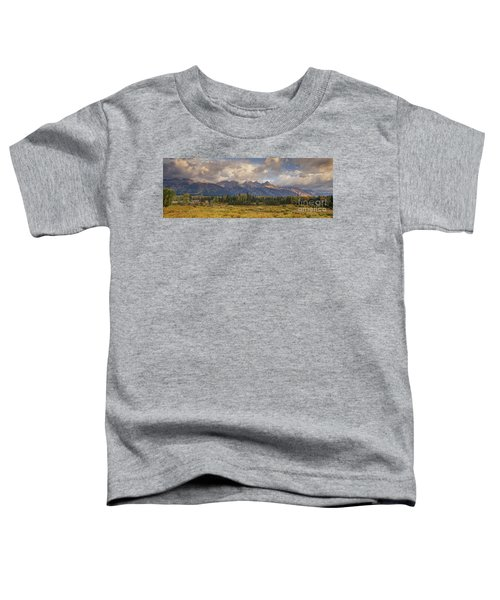 Panaroma Clearing Storm On A Fall Morning In Grand Tetons National Park Toddler T-Shirt