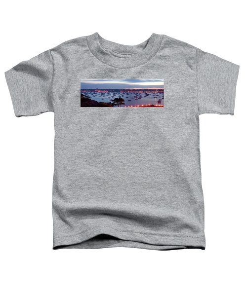 Panoramic Of The Marblehead Illumination Toddler T-Shirt