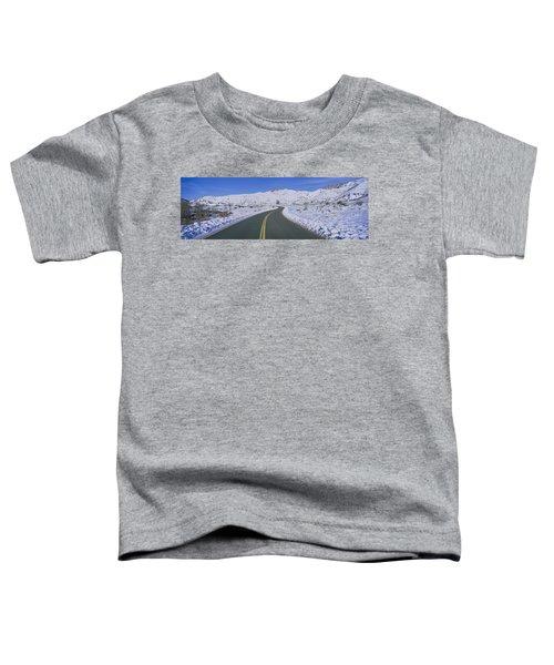Panoramic View Of Winter Snow Toddler T-Shirt
