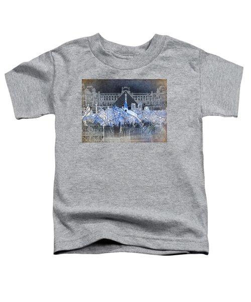 Paris Skyline Vintage Toddler T-Shirt