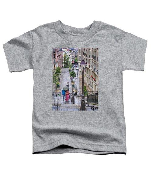 Paris Sous La Pluie Toddler T-Shirt by Nikolyn McDonald