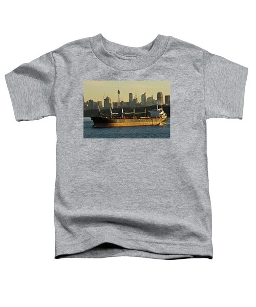 Toddler T-Shirt featuring the photograph Passing Sydney In The Sunset by Miroslava Jurcik