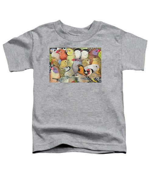 Patchwork Birds Toddler T-Shirt