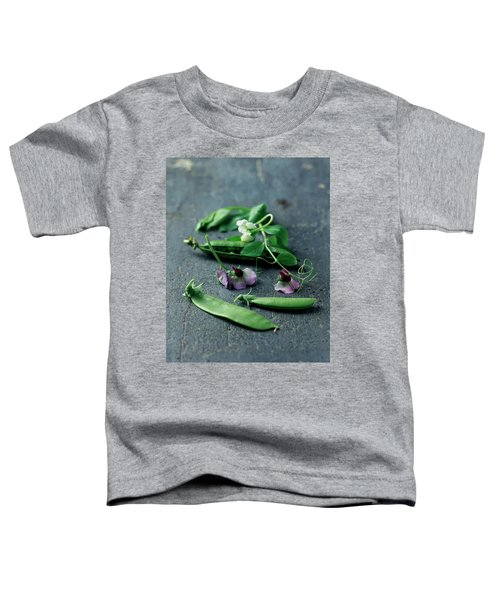 Pea Pods And Flowers Toddler T-Shirt