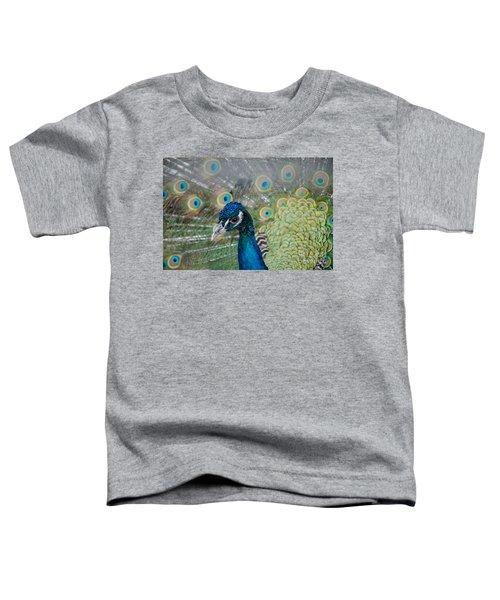 Peacock Portrait Toddler T-Shirt