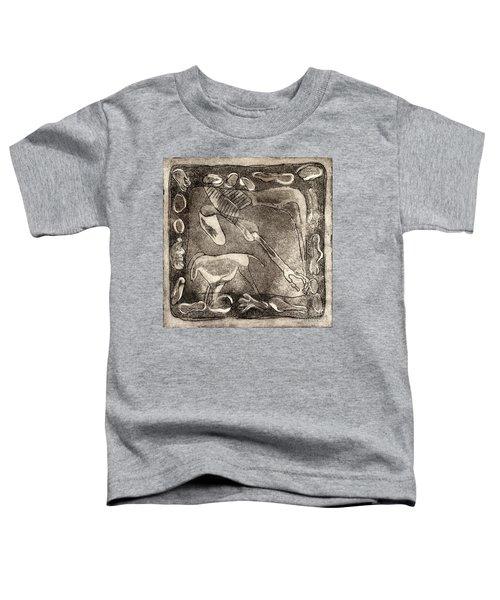 Petroglyph - Horse Takhi And Stones - Prehistoric Art - Cave Art - Rock Art - Cave Painters Toddler T-Shirt