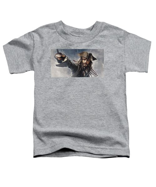 Pirates Of The Caribbean Johnny Depp Artwork 2 Toddler T-Shirt