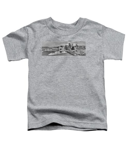 Pittsburgh Black And White Winter Panorama Toddler T-Shirt