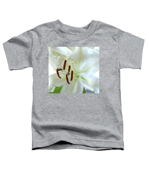 Pollinated White Tiger Lily Toddler T-Shirt