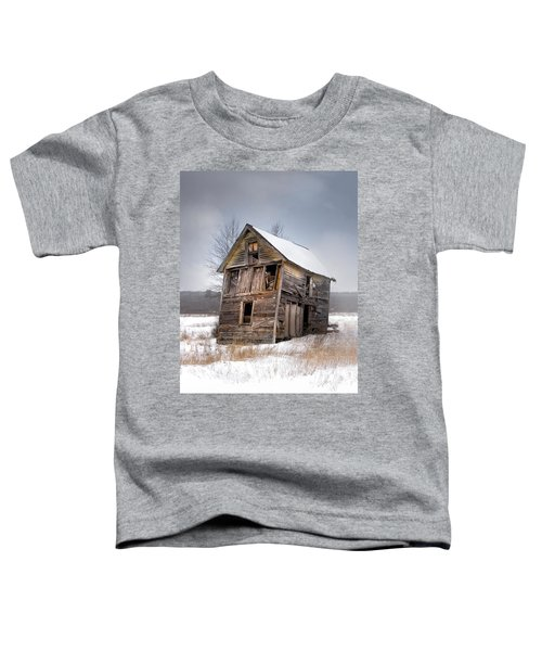 Portrait Of An Old Shack - Agriculural Buildings And Barns Toddler T-Shirt
