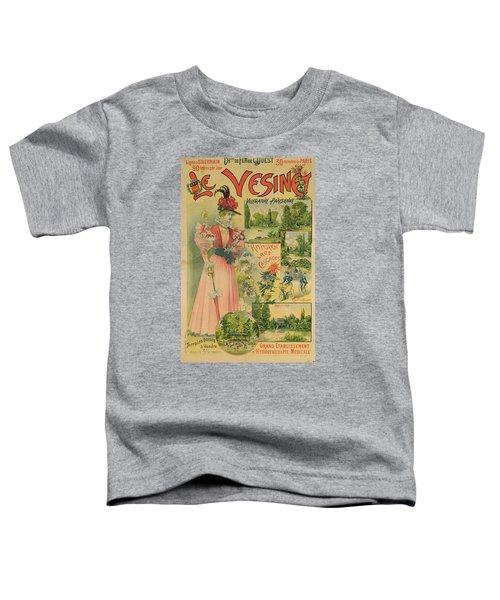 Poster For The Chemins De Fer De Louest To Le Vesinet Toddler T-Shirt