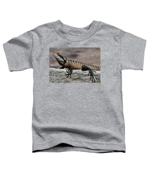 Toddler T-Shirt featuring the photograph Profile Of A Waterdragon by Miroslava Jurcik