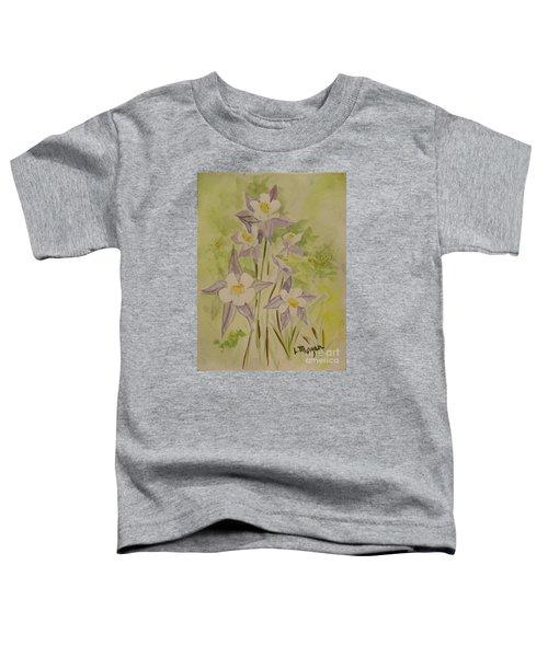 Purple And White Columbines Toddler T-Shirt