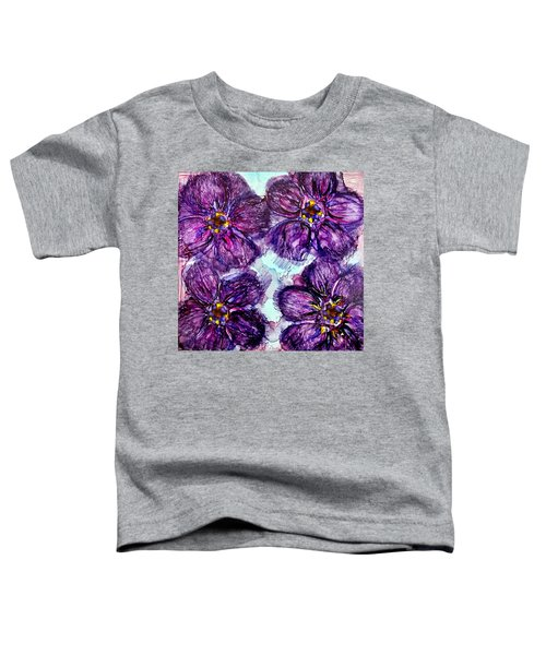 Purple Daisies Alcohol Inks Toddler T-Shirt