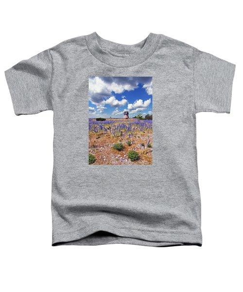 Purple Flower Countryside Toddler T-Shirt