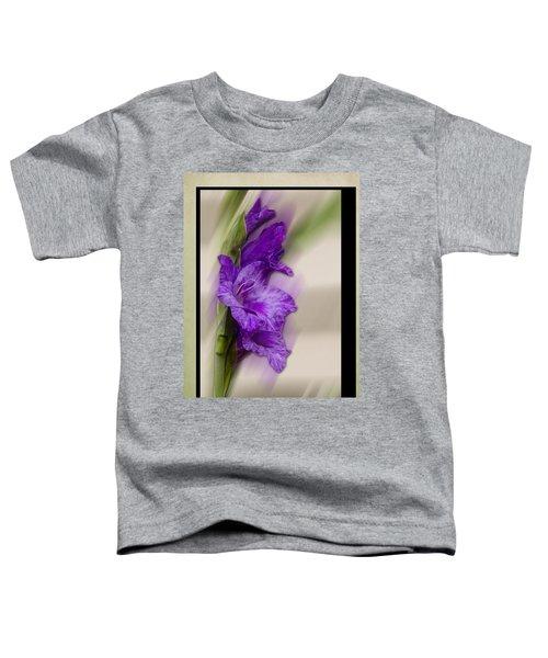 Purple Gladiolus Bloom Toddler T-Shirt