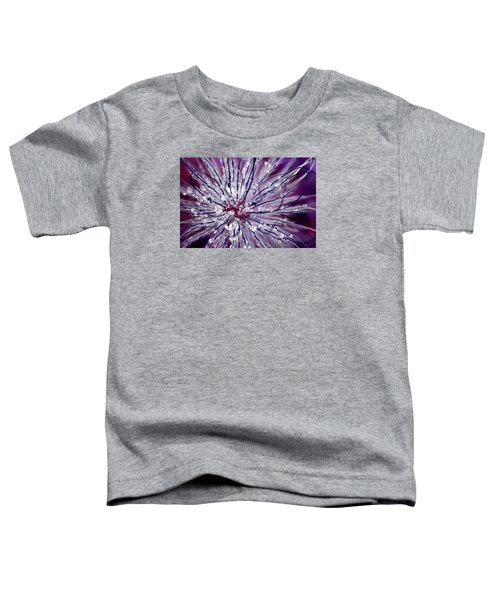 Purple Tentacles In Abstract Flower Shot Toddler T-Shirt