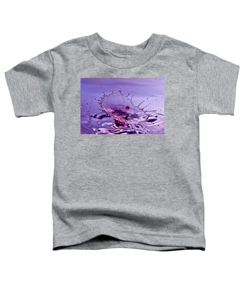 Purple Water Splash Toddler T-Shirt