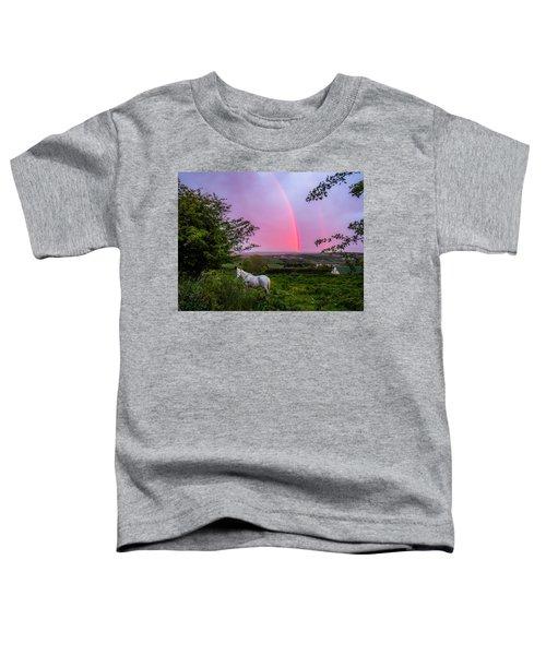 Toddler T-Shirt featuring the photograph Rainbow At Sunset In County Clare by James Truett