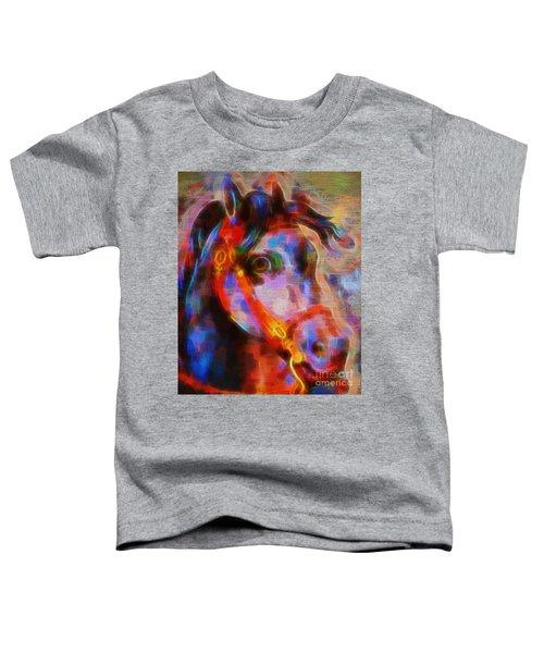 Rainbow Carousel Horse Toddler T-Shirt