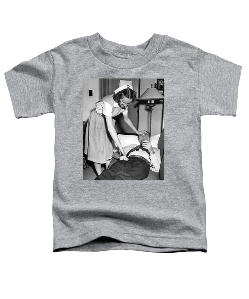 Red Cross Nurse With Patient Toddler T-Shirt