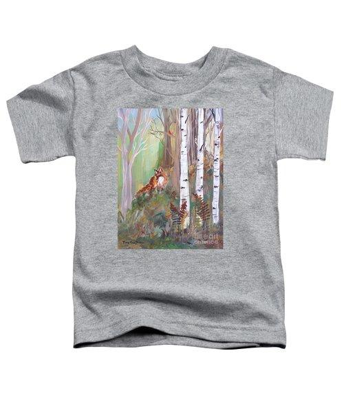 Red Fox And Cardinals Toddler T-Shirt