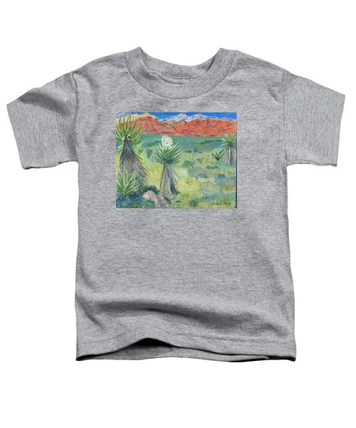 Red Rock Canyon With Yucca Toddler T-Shirt