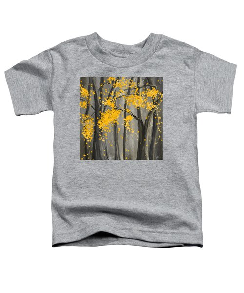 Rejuvenating Elements- Yellow And Gray Art Toddler T-Shirt
