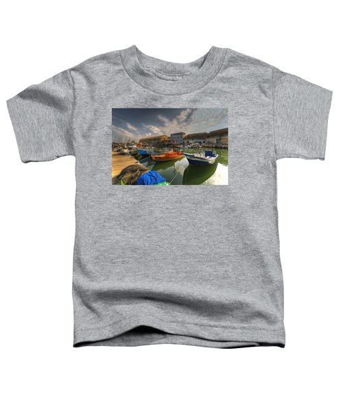 resting boats at the Jaffa port Toddler T-Shirt