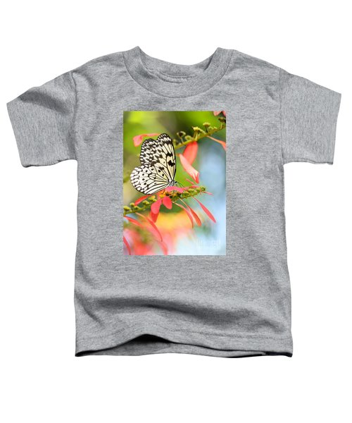 Rice Paper Butterfly In The Garden Toddler T-Shirt