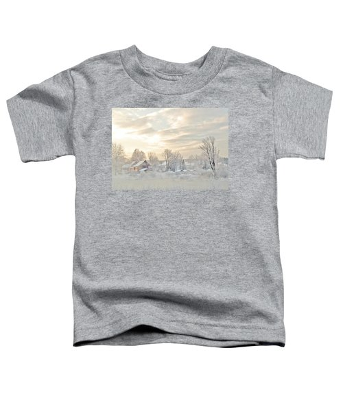 River Mist On A Very Cold New Hampshire Morning Toddler T-Shirt
