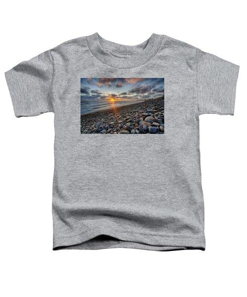 Rocky Coast Sunset Toddler T-Shirt