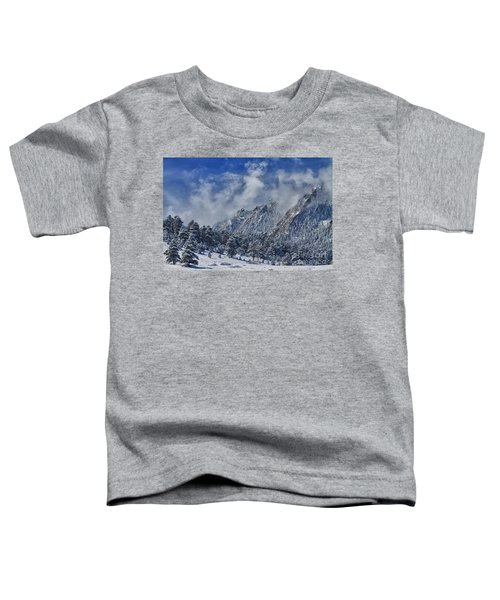 Rocky Mountain Dusting Of Snow Boulder Colorado Toddler T-Shirt