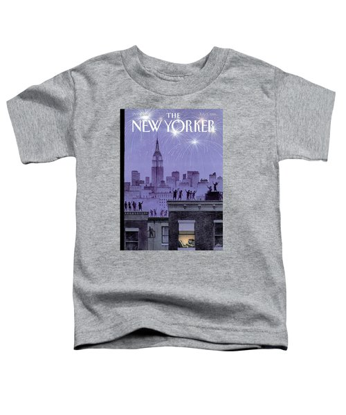 Rooftop Revelers Celebrate New Year's Eve Toddler T-Shirt
