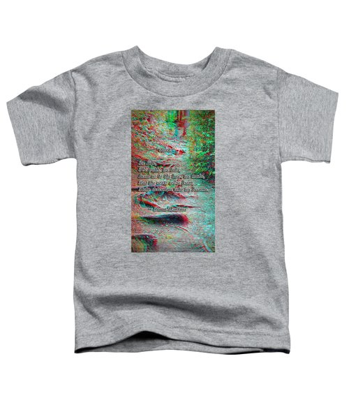 Roots - Use Red/cyan Filtered 3d Glasses Toddler T-Shirt