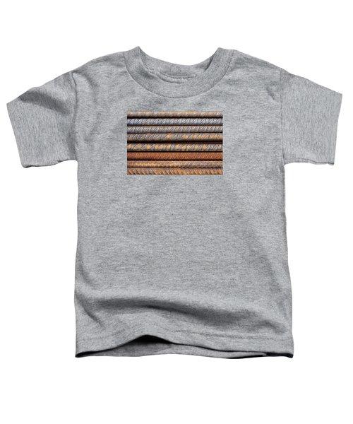 Rusty Rebar Rods Metallic Pattern Toddler T-Shirt