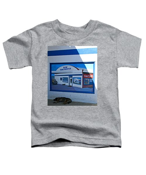 S And W Tire Service Mural Toddler T-Shirt