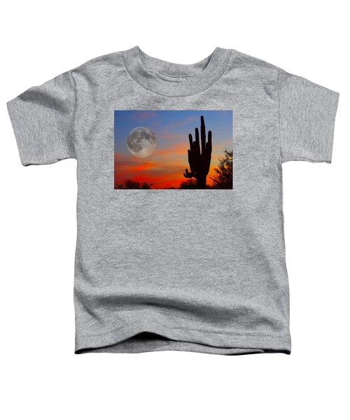Saguaro Full Moon Sunset Toddler T-Shirt by James BO  Insogna