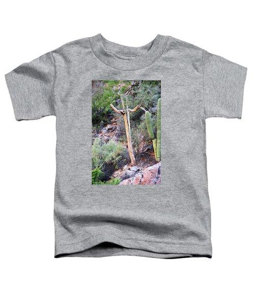 Saguaro Skeleton Toddler T-Shirt