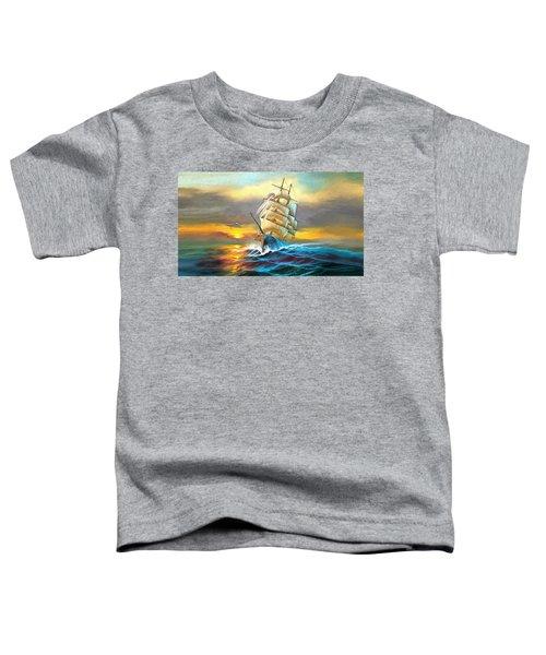 Sail Boat Full Sails Toddler T-Shirt