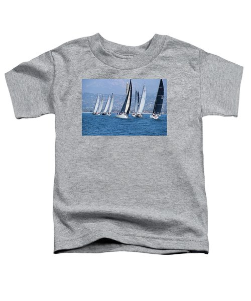 Sailboat Race In The Pacific Ocean Toddler T-Shirt