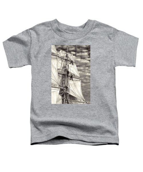 Sailors In Rigging Of Tall Ship Toddler T-Shirt