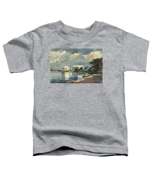 Toddler T-Shirt featuring the painting Salt Kettle Bermuda by Winslow Homer