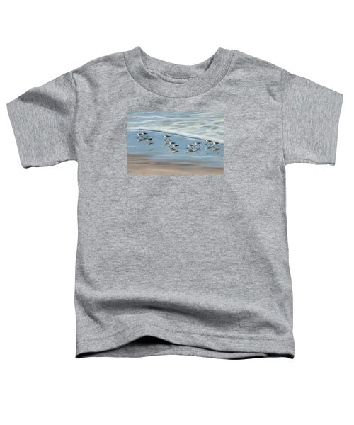Sandpipers Toddler T-Shirt by Tina Obrien